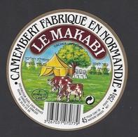 Etiquette De Fromage  Camembert Cacher Lepessan  -  Le Makabi  -  Fromagerie  De Saint  Bomer Les Forges   (61 F) - Fromage