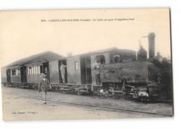 CPA 85 L'Aiguillon Sur Mer Le Train En Gare - France