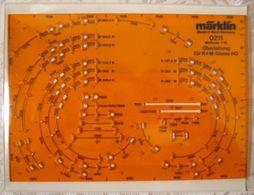 MÄRKLIN Schablone 0211 1:10 H0 K M Gleisplan Hilfsmittel Oberleitung - Gleise