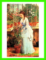 ARTS, PEINTURES - JANE MARIA BOWKETT (1860-1885 - A YOUNG LADY IN A CONSERVATORY - VICTORIA'S SECRET - - Peintures & Tableaux