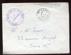 Maroc - Enveloppe En FM De Oued Zem Pour Paris En 1958 - N235 - Maroc (1956-...)