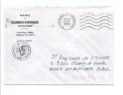 LETTRE DE MAIRIE DE EGLISENEUVE-D'ENTRAIGUES PUY DE DOME - Marcophilie (Lettres)