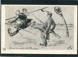 CPA - Illustration Boby - Le Pas De Parade à La Française - Guerre 1914-18