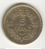 5 Francs France 1946 C - TTB+ - France