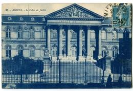 CPA 80 Somme Amiens Le Palais De Justice Animé - Amiens