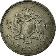 Monnaie, Barbados, 10 Cents, 1984, Franklin Mint, TTB, Copper-nickel, KM:12 - Barbades