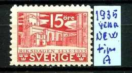 SVEZIA - SVERIGE - Year 1935 - Nuovo - New - Fraiche - Frisch - MNH ** - Suecia