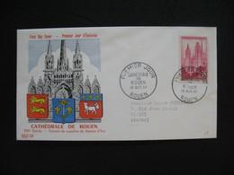 FDC 1957     N° 1129  Cathédrale De Rouen   à Voir - FDC
