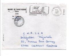 LETTRE DE MAIRIE DE SAINT-PIERRE CANTAL - Marcophilie (Lettres)