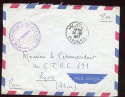 Maroc - Enveloppe En FM De Benguerir Pour Lyon En 1957 - N238 - Maroc (1956-...)