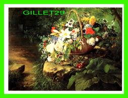 ARTS, PEINTURES - EMMA THOMSEN (1820-1897) - A BASKET OF SUMMER FLOWERS IN A WOODED LANDSCAPE - VICTORIA'S SECRET - - Peintures & Tableaux