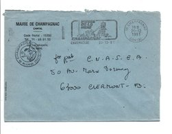 LETTRE DE MAIRIE DE CHAMPAGNAC CANTAL - Marcophilie (Lettres)