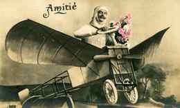 Fantaisie - Aviateur Dans Son Avion - CARTE PHOTO - Humor