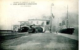 N°66725 -cpa Le Havre -gare Maritime à Passagers- Vue D'ensemble- - Gares - Avec Trains