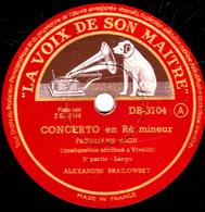 78 Trs - 30 Cm - Etat TB - CONCERTO En Ré Mineur - 3e Partie - Largo - Conclusion - Finale - ALEXANDRE BRAILOWSKY - 78 T - Disques Pour Gramophone