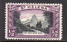 St. Helena GV 1934 Centenary Of Colonisation ½d Value, Wmk. Script CA, Hinged Mint, SG 114 - Saint Helena Island