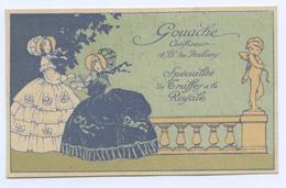 CARTE DE VISITE GOUACHE - CONFISEUR BOULEVARD DES ITALIENS - Cartes De Visite