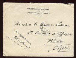 Maroc - Enveloppe En FM Du Corps De Débarquement Pour Blida En 1908 - N244 - Briefe U. Dokumente