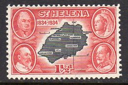 St. Helena GV 1934 Centenary Of Colonisation 1½d Value, Wmk. Script CA, Hinged Mint, SG 116 - Saint Helena Island