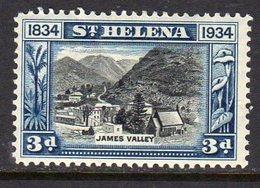 St. Helena GV 1934 Centenary Of Colonisation 3d Value, Wmk. Script CA, Hinged Mint, SG 118 - Saint Helena Island