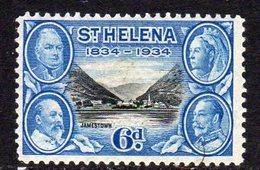 St. Helena GV 1934 Centenary Of Colonisation 6d Value, Wmk. Script CA, Hinged Mint, SG 119 - Saint Helena Island
