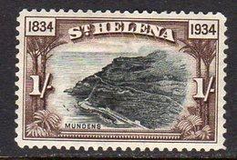 St. Helena GV 1934 Centenary Of Colonisation 1/- Value, Wmk. Script CA, Hinged Mint, SG 120 - Saint Helena Island