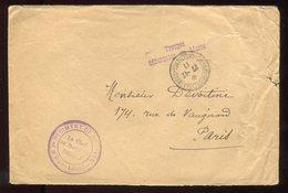 Maroc - Enveloppe En FM De Casablanca En 1911 Pour Paris - N249 - Briefe U. Dokumente
