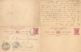 Post Card With Reply  Victoria Hong Kong - St.Gallen             1903 - Hong Kong (...-1997)