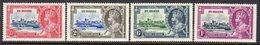 St. Helena GV 1935 Silver Jubilee Set Of 4, Hinged Mint, SG 124/7 - Saint Helena Island