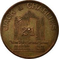 United States Of America, Médaille, Publicitaire, Jack Et Charlies 21 Club - Etats-Unis