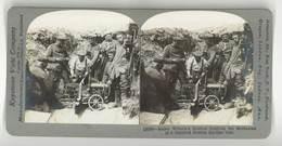 Photo Stéréoscopique : Kaiser Wilhelm's Soldiers ... Russian Machine Gun ( Guerre, War, Mitrailleuse Russe ) - Photos Stéréoscopiques