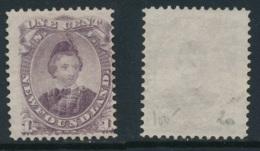 NEWFOUNDLAND, 1868 1c Dull Purple (type I) Fine, Unused No Gum, SG34, Cat £75 - Newfoundland