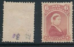 NEWFOUNDLAND, 1868 6c Rose Fine, Unused No Gum, SG39, Cat £16 - Newfoundland