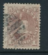 NEWFOUNDLAND, 1880 1c Red-brown Fine Used, SG44b, Cat £20 - Newfoundland