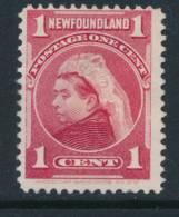 NEWFOUNDLAND, 1897 1c Carmine Fine, Unused No Gum - Newfoundland
