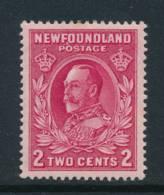 NEWFOUNDLAND, 1923 2c Carmine P13½ (comb) Very Fine MM, SG210 - 1908-1947