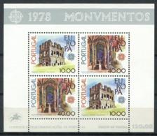 Europa CEPT 1978 Mi. Bl. 23 Foglietto 100% Nuovo ** Portogallo, Monumenti - Europa-CEPT