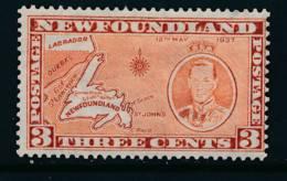 NEWFOUNDLAND, 1937 Coronation 3c (P13 Comb) Die II Very Fine MM, SG258ed, Cat £10 - 1908-1947