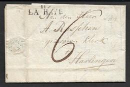 1812 - LAC - DÉPARTEMENT CONQUIS - 119 LA HAYE Pour HARLINGEN - Marcophilie (Lettres)