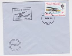 Falkland Islands - Hydravion - FDC Fox Bay 1969 - Falkland