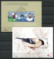 Portogallo Azzorre 2008 Mi. Bl. 36, 38 Foglietto 100% Usato Postino, Ciuffolotto, Uccelli - Azores