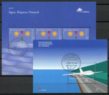 Portogallo Madera 2000/2001 Mi. Bl. 22-23 Foglietto 100% Usato Aereo, Acqua - Madeira