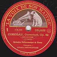 78 Trs - 30 Cm - Etat TB - CORIOLAN Ouverture Op. 62  BEETHOVEN  1re Partie Et Conclusion  Orchestre Philh. De Vienne - 78 T - Disques Pour Gramophone