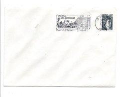 1 ER JOUR FLAMME DE SAINT FLOUR CANTAL1981 - Marcophilie (Lettres)