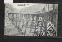 O) MEXICO, BRIDGE -EMBLEM. METLAC VIADUCT -MEXICAN RAILROAD -MEANS OF COMMUNICATION, POSTAL CARD XF - Mexique