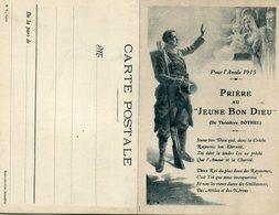 CPA - Carte Double - Pour L'Année 1915 - PRIERE AU JEUNE BON DIEU - Guerre 1914-18