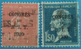 France 1930 : Réunion Du Conseil D'administration Du Bureau International Du Travail N ° 264 Et 265 Oblitéré - France