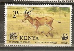 Kenya 1977 Hartebeest Animal Obl - Kenya (1963-...)