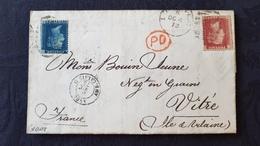 2 Lettres Classiques, GB 1873 à Destination De France Et 1893 à Destination De Belgique - Postmark Collection