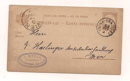 Postkarte - 3.10.1888 - Von  Neugradiska Nach Wien - Postal Stationery